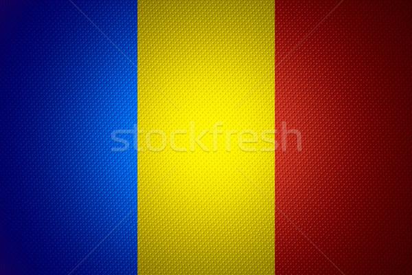 Bandeira Romênia romeno bandeira abstrato textura Foto stock © MiroNovak