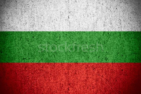 Vlag Bulgarije banner ruw patroon textuur Stockfoto © MiroNovak