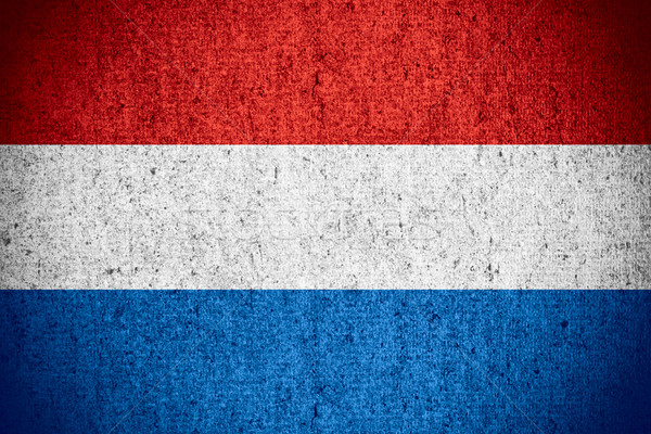 Vlag holland nederlands banner ruw patroon Stockfoto © MiroNovak
