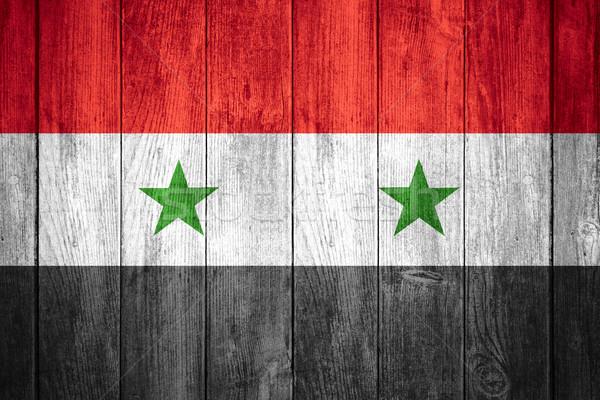 Bandeira Síria vermelho branco preto bandeira Foto stock © MiroNovak
