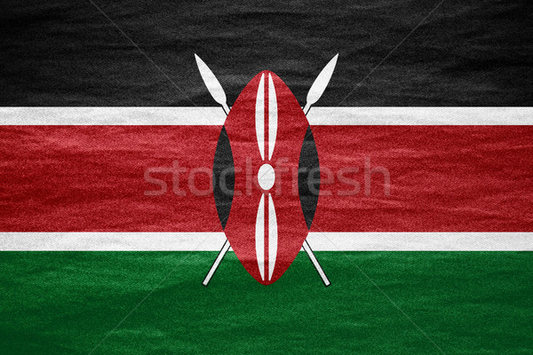 Zászló Kenya szalag vászon textúra háttér Stock fotó © MiroNovak