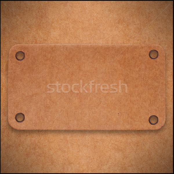 Barna karton absztrakt címke papír textúra Stock fotó © MiroNovak