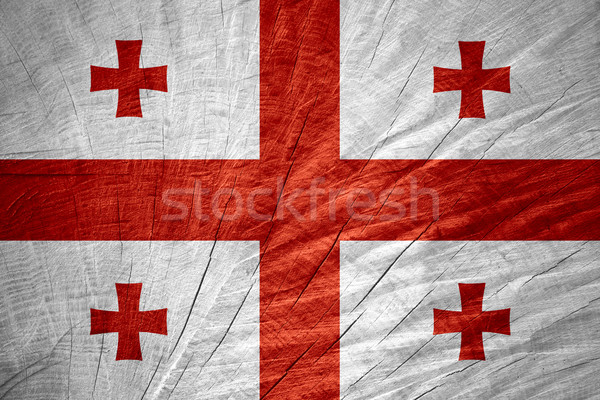 Bandiera Georgia banner legno texture Foto d'archivio © MiroNovak
