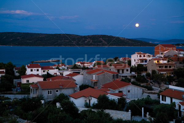 The moonrise in Sevid Stock photo © MiroNovak