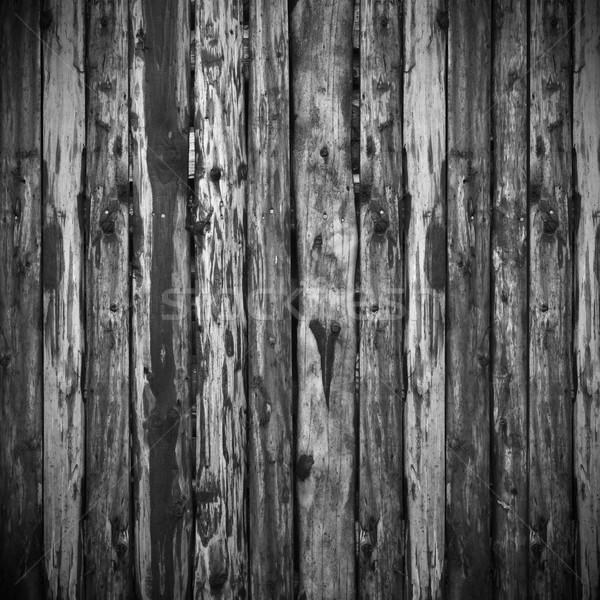 Barna fekete deszkák fából készült textúra organikus Stock fotó © MiroNovak