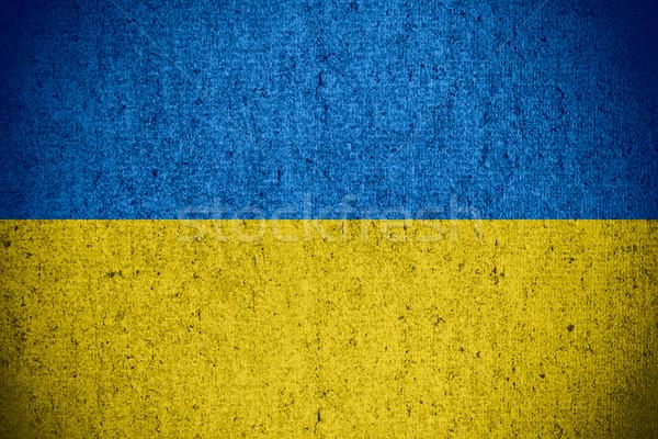 флаг Украина баннер грубо шаблон текстуры Сток-фото © MiroNovak