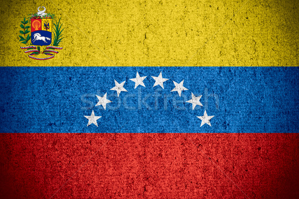 Bandeira Venezuela bandeira áspero padrão textura Foto stock © MiroNovak