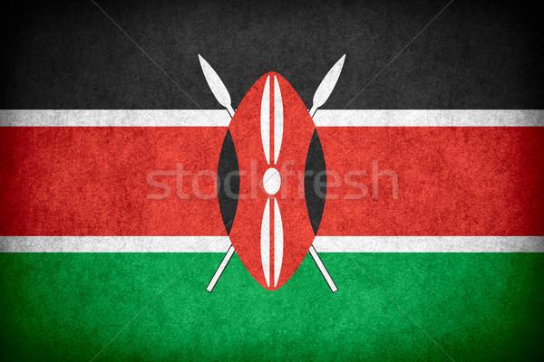 Pavillon Kenya bannière papier rêche modèle Photo stock © MiroNovak