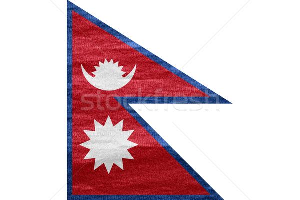 флаг Непал баннер холст текстуры фон Сток-фото © MiroNovak