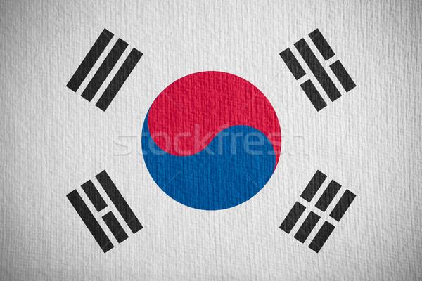 Bayrak Güney Kore güney afiş kâğıt Stok fotoğraf © MiroNovak