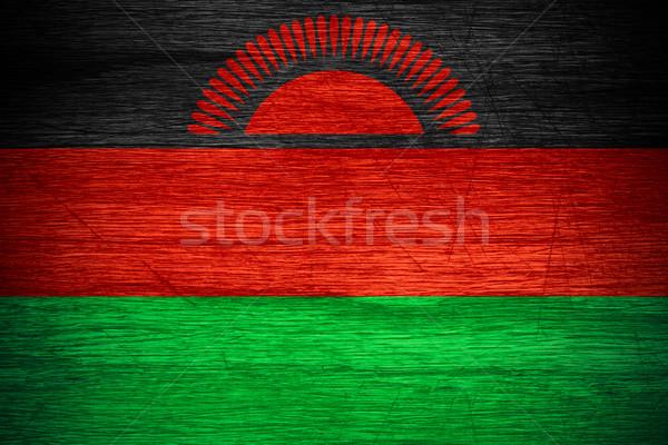 Zászló Malawi szalag fából készült textúra Stock fotó © MiroNovak