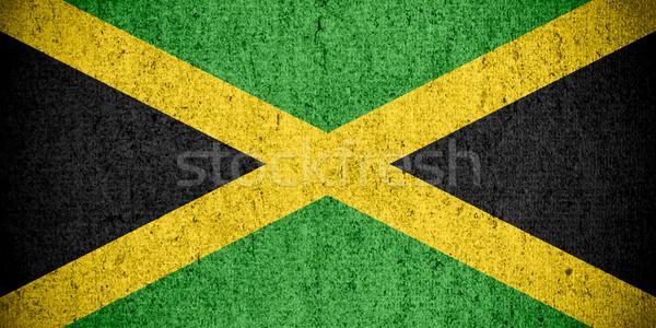 Bayrak Jamaika afiş kaba model doku Stok fotoğraf © MiroNovak