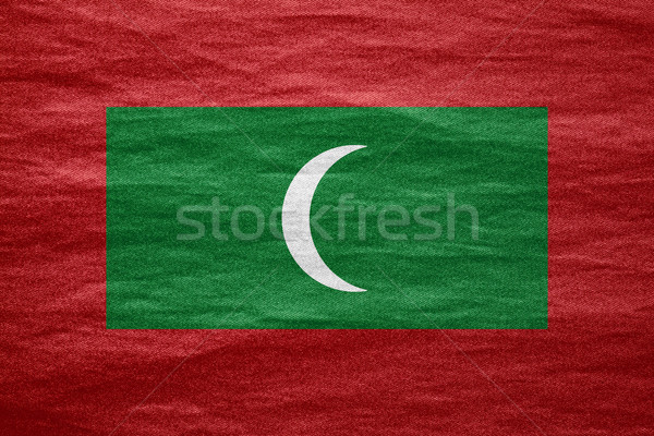 флаг Мальдивы баннер холст текстуры фон Сток-фото © MiroNovak