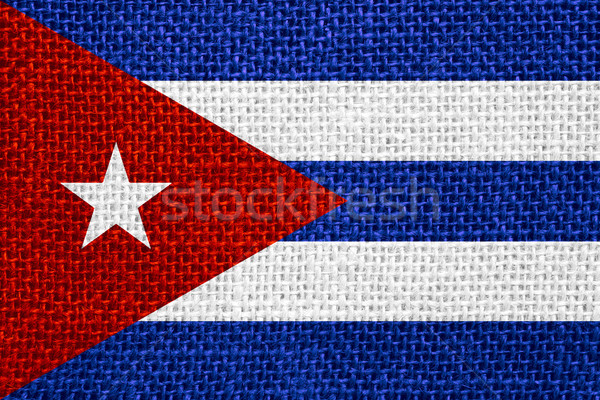 Bandiera Cuba banner Foto d'archivio © MiroNovak