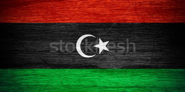 Banderą Libia banner tekstury Zdjęcia stock © MiroNovak
