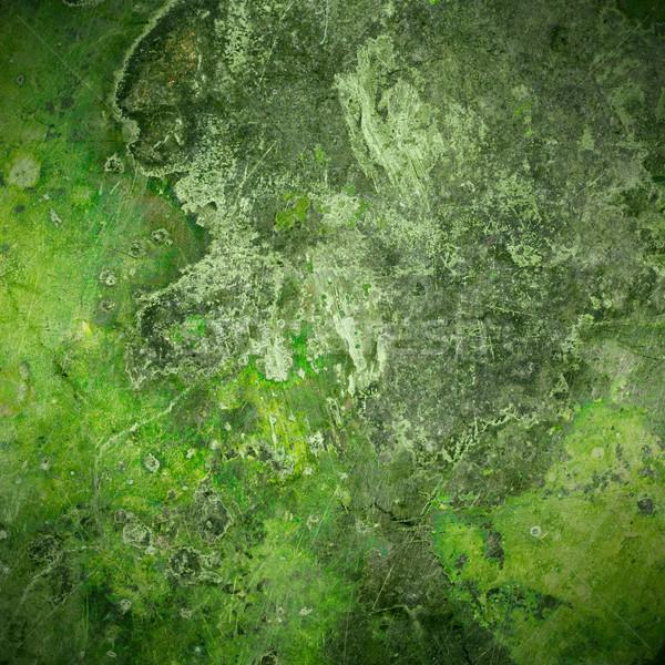 Verde edad óxido metal placa vintage Foto stock © MiroNovak