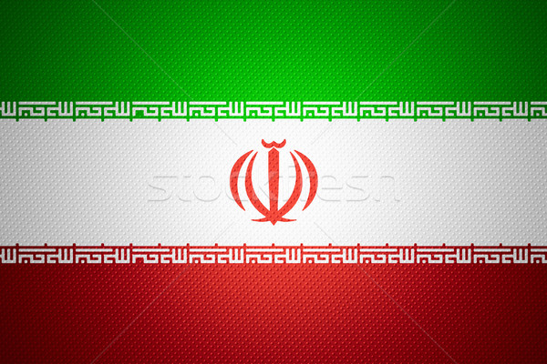 Vlag Iran iraans banner abstract textuur Stockfoto © MiroNovak