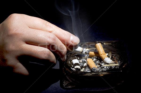 Dohányos kéz egészség füst Stock fotó © mirusiek