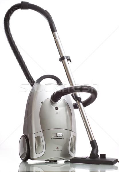 Vakum ev hizmet zemin beyaz temizlemek Stok fotoğraf © mirusiek