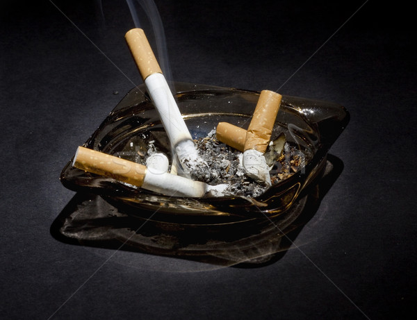 Asbak gezondheid rook tabak roker Stockfoto © mirusiek