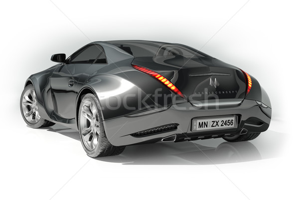 Stock photo: Black sports car