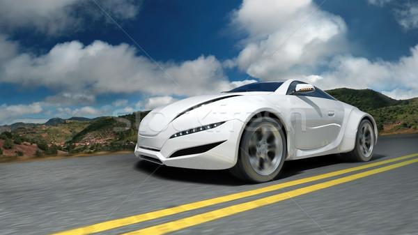 Sportautó mozog út eredeti autó terv Stock fotó © Misha