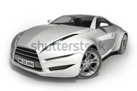 Autó eredeti terv fehér izolált illusztráció Stock fotó © Misha