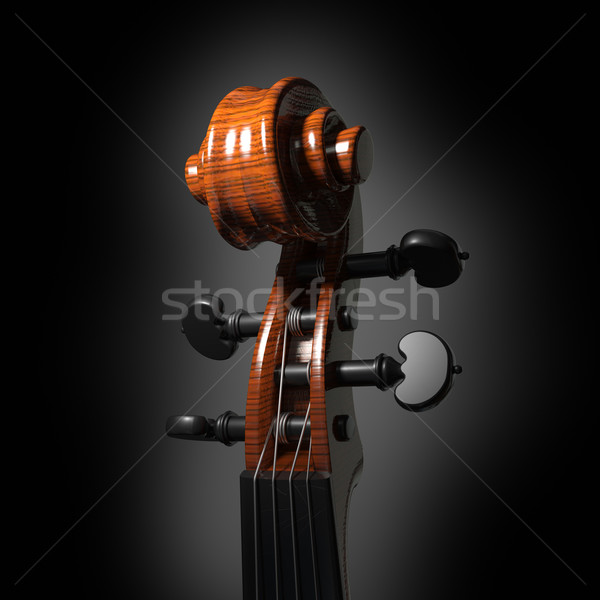 Violin scroll Stock photo © Misha