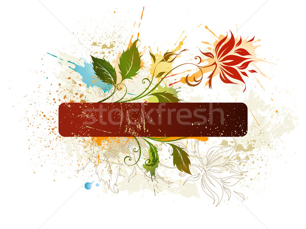 Keret virág vektor virágmintás tavasz absztrakt gyönyörű Stock fotó © Misha
