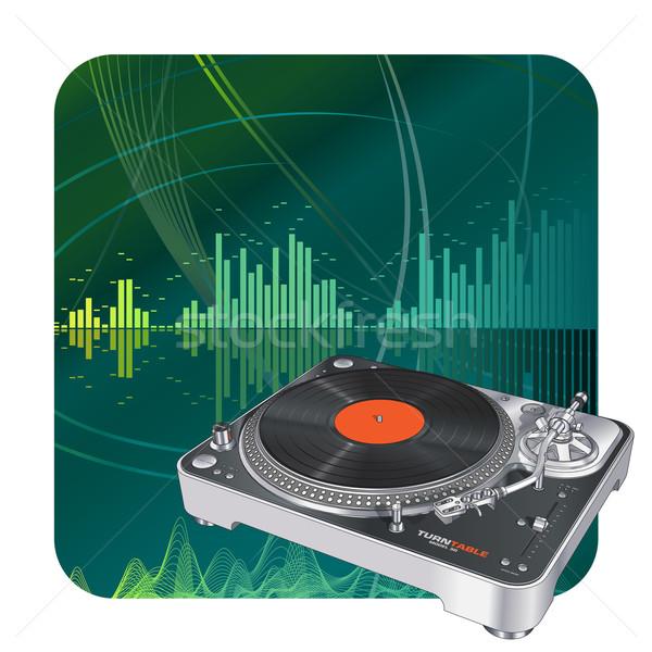 Turntable musique résumé disco numérique modèle Photo stock © Misha