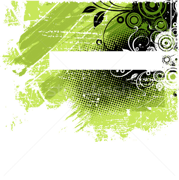 Vert grunge floral résumé Photo stock © Misha