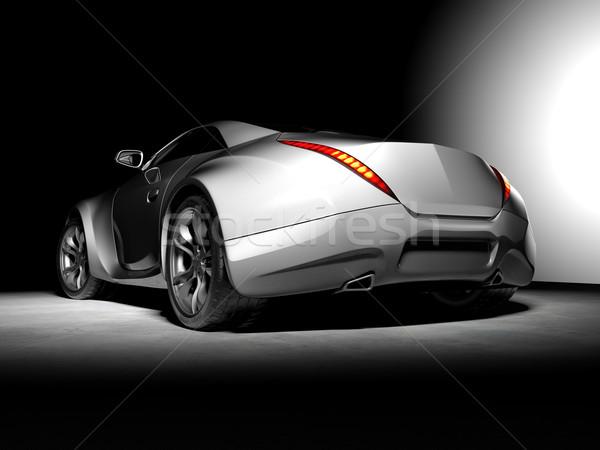 Originale voiture design noir pouvoir Photo stock © Misha