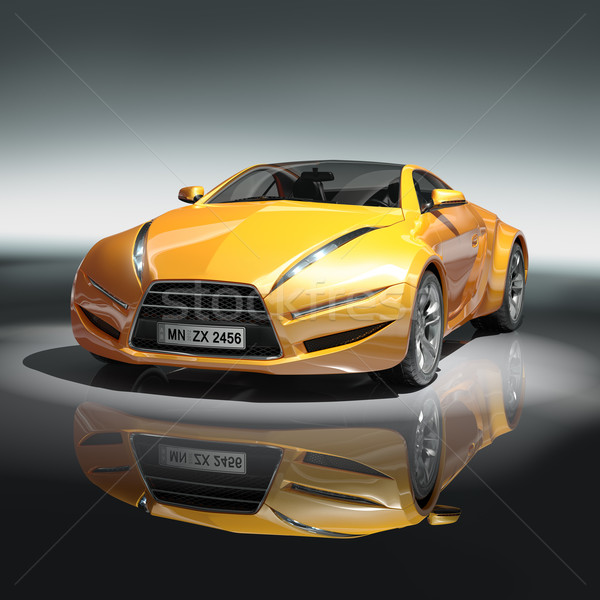Yellow sports car Stock photo © Misha