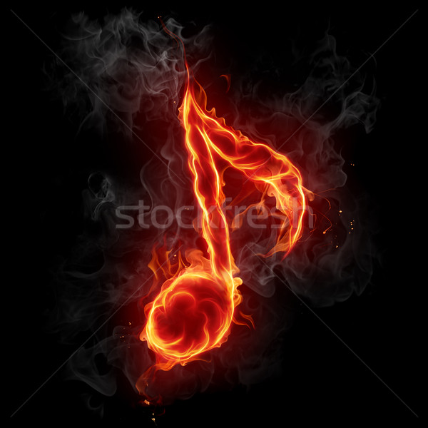Feu note flaming design art Photo stock © Misha