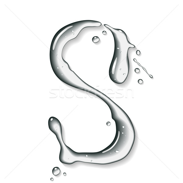 Vector water letter Stock photo © Misha