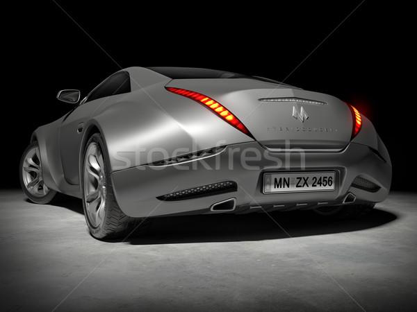 Stockfoto: Auto · mijn · eigen · ontwerp · logo · snelheid