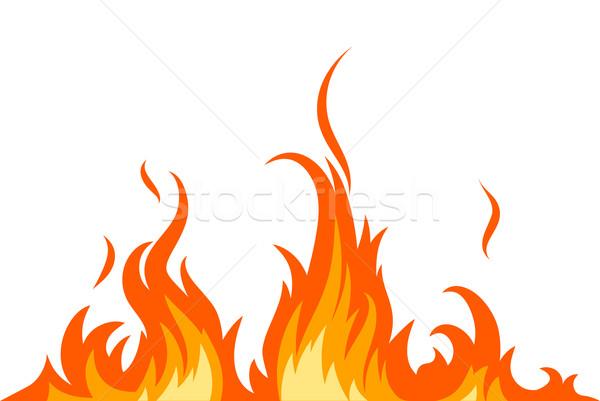 Vektor tűz lángok fény piros forró Stock fotó © Misha