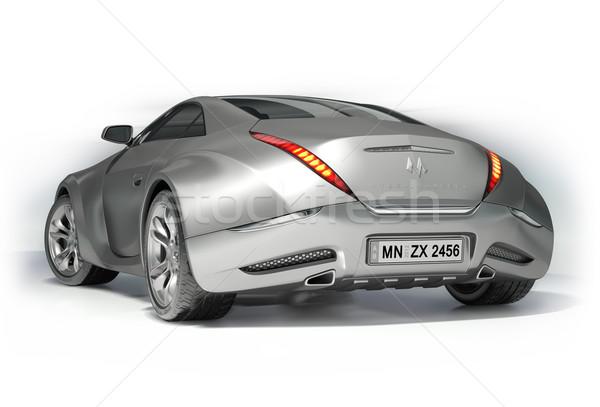 Stock fotó: Sportautó · izolált · fehér · enyém · saját · autó