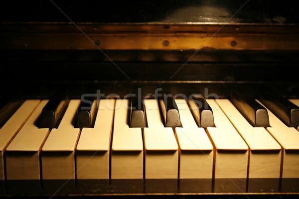 Piano vintage clavier fond Photo stock © Misha