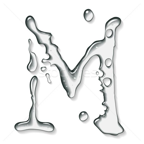 Vektor víz levél ábécé absztrakt művészet Stock fotó © Misha