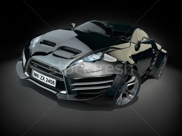 黒 ハイブリッド スポーツカー 車 速度 電源 ストックフォト © Misha