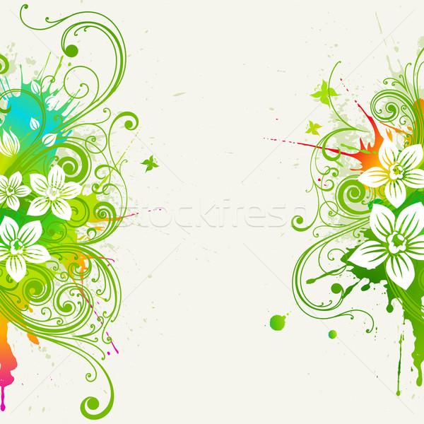 Nyár vektor grunge virágmintás virág terv Stock fotó © Misha