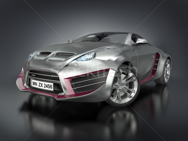 Hibrid sportautó autó enyém saját terv Stock fotó © Misha