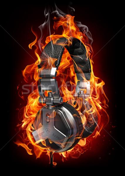 Burning headphones Stock photo © Misha
