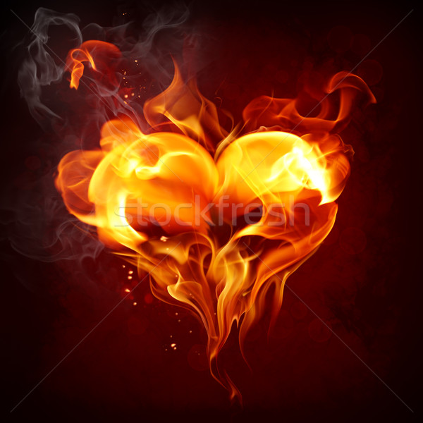 Flaming heart Stock photo © Misha