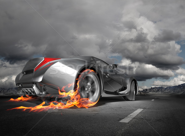 Sports car burnout Stock photo © Misha