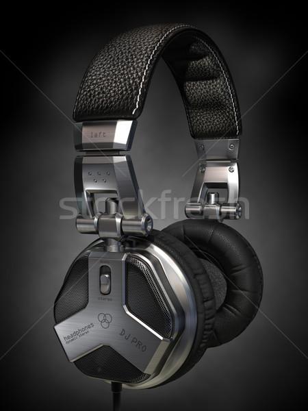 Fejhallgató enyém saját terv kép logo Stock fotó © Misha