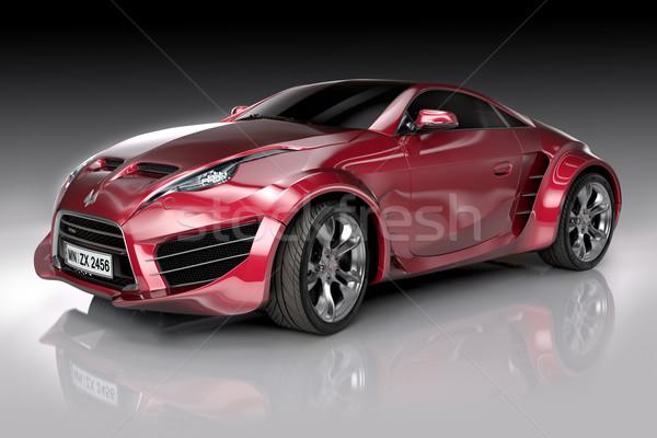 Piros sportautó enyém saját autó logo Stock fotó © Misha