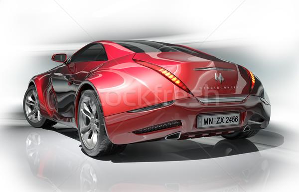 Piros sportautó enyém saját autó terv Stock fotó © Misha