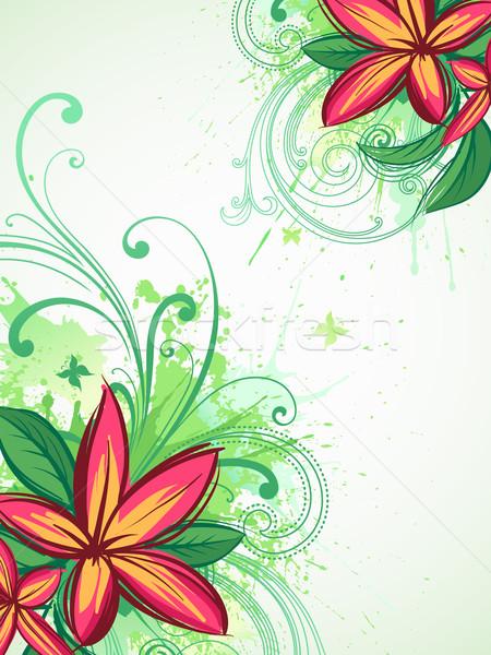 Trópusi virágok vektor virágmintás virág tavasz Stock fotó © Misha